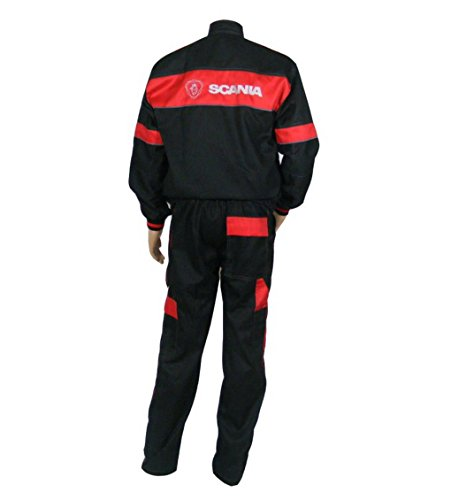XXXL Overalls and Jacket Set Embroidered Logo on Front and Back Truck Driver Mechanic Men Workwear Clothes size M M