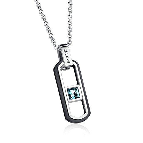Titanium Chicago Cubs Necklace - 9
