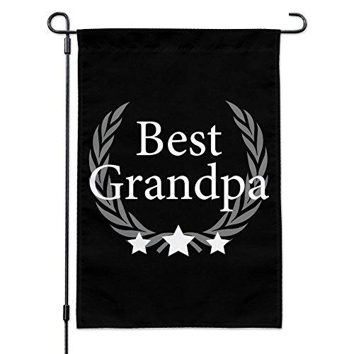 Best Grandpa Award Garden Yard Flag with Pole Stand Holder