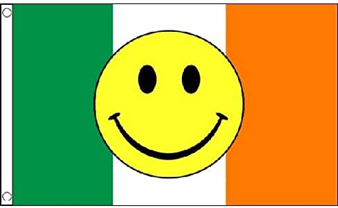 Ireland Smiley Face Flag 5Ft X 3Ft Irish Eurovision Song Contest Banner New by Ireland Smiley Face: Amazon.es: Juguetes y juegos