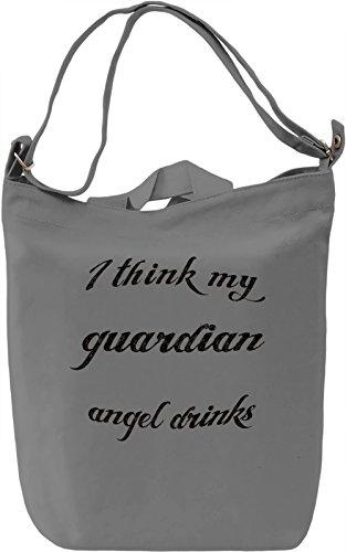 Guardian Angel Borsa Giornaliera Canvas Canvas Day Bag| 100% Premium Cotton Canvas| DTG Printing|
