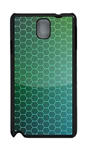 Samsung Galaxy Note 3 CaseHoneycomb Shaped Grid Background PC Hard Plastic Case for Samsung Galaxy Note 3 / Note III/ N9000 - Black