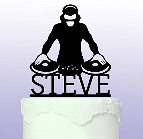 Personalised Dj Cake Topper - Club - Mixer by Tamengi