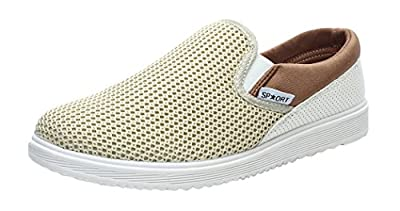 XIAXIAN Men's Summer Fashion Breathable Grenadine Casual Shoes