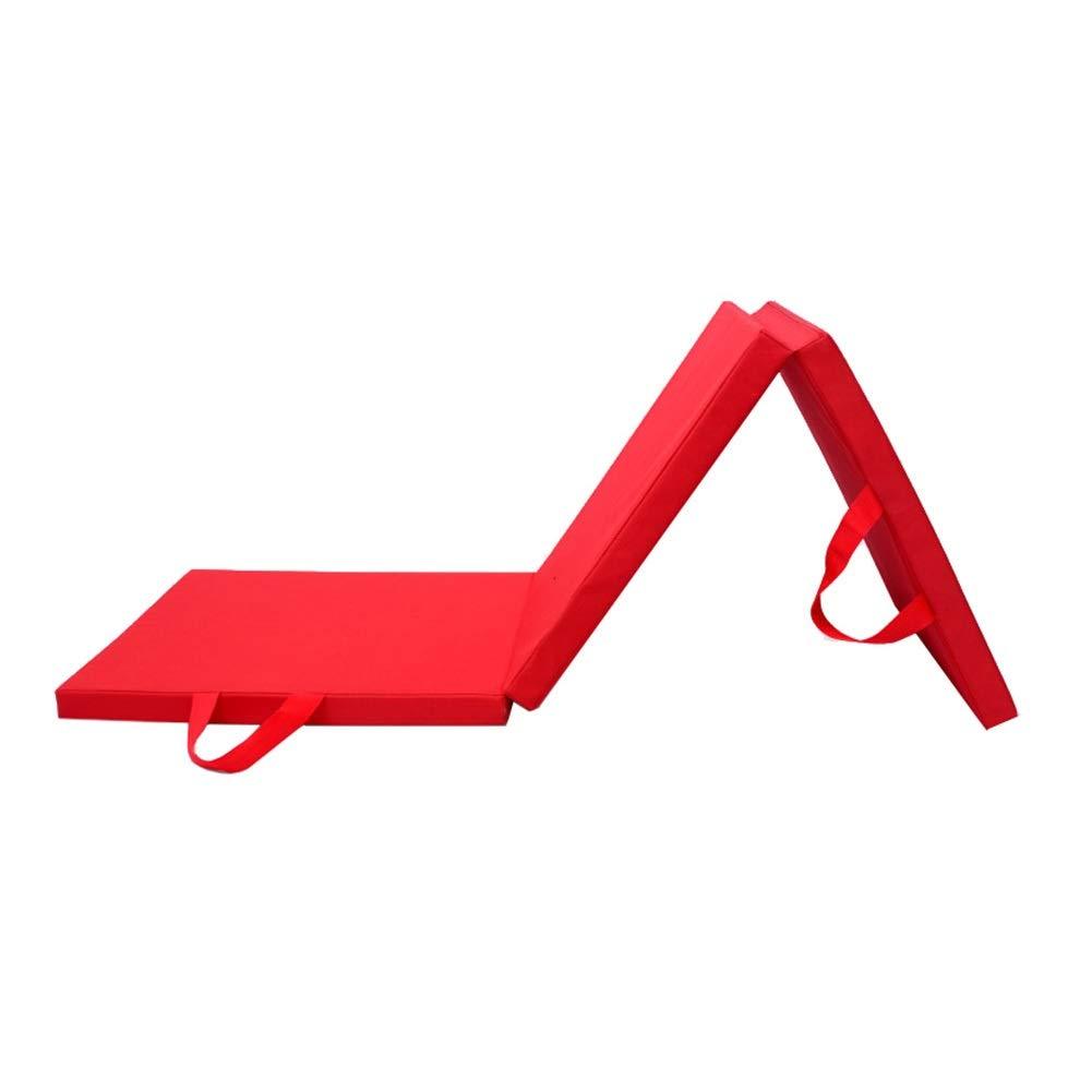本物の ZJ 体操、エアロビクス ZJ、ヨガ、キャリングハンドル付き武道用5.9x1.96ftタンブリングマット3つ折りエクササイズマット (色 ブラック) : 赤 ブラック) B07R3GNW3V 赤 赤, 安濃町:e063414a --- arianechie.dominiotemporario.com