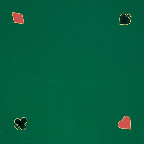 Trademark Poker Green Playing Felt 40-Inch x 40-Inch ()