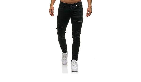 Pantalones Vaqueros para Hombre MISSWongg Algodón Pantalones ...