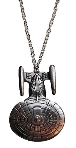 Star Trek Next Generation Enterprise-D Pewter Necklace PENDANT (Starship Pendant)