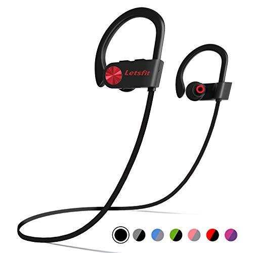 Bluetooth Headphones, Letsfit Wireless Headphones, IPX7 Waterproof