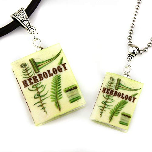 HERBOLOGY Clay Mini Book Pendant Necklace Unisex by Book -