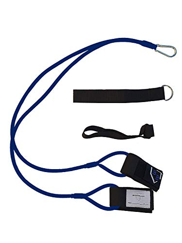 BB-Bands Sports Exercise Baseball/Softball Training Aid Pitching Arm Strength Quarterback Warmup Stretching Resistance Bands j (Blue, Youth)