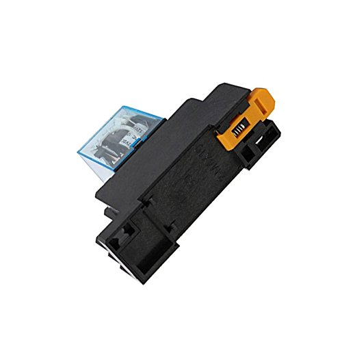 Yohii DC12V Coil 8 Pins Electromagnetic Power Relay with Socket Base 2pcs by Yohii (Image #2)