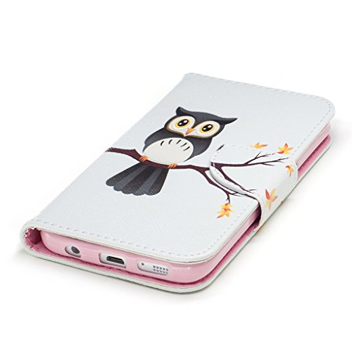 Trumpshop Smartphone Carcasa Funda Protección para Samsung Galaxy S7 (5,1 Pulgada) [Panda Linda] PU Cuero Caja Protector Billetera con Cierre magnético Choque Absorción Linda Búho