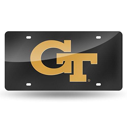 - NCAA Georgia Tech Yellow Jackets Laser Inlaid Metal License Plate Tag