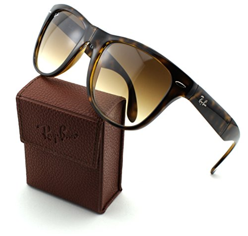 Ray-Ban RB4105 Folding Wayfarer Unisex Sunglasses (Light Havana Frame/Crystal Brown Gradient Lens 710/51, ()