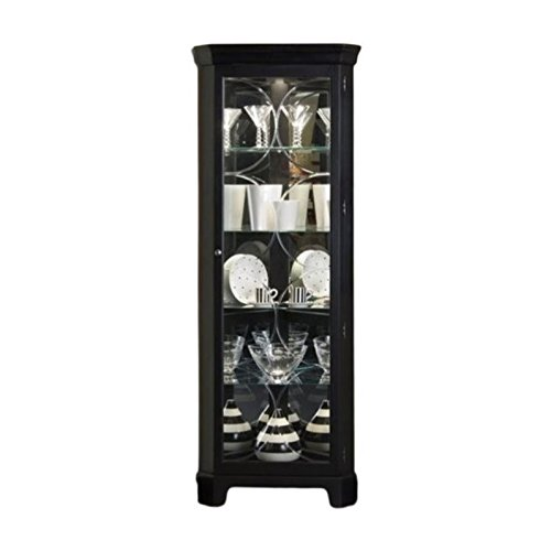 - Beaumont Lane Black Corner Curio Cabinet
