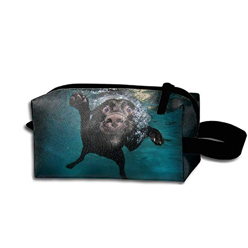 JONHBKD Dog Underwater Swimming Pen Holder Stationery Pencil Pouch Waterproof Multi-Purpose Storage Tote Tools Nylon Bag Cosmetic Makeup Bags with Zipper and Hanging ()