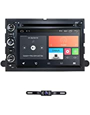 hizpo Android 10 Car Navigation Radio Fit for Ford F150 F250 F350 Edge Fusion in Dash DVD Player GPS Stereo Radio BT Steering Wheel Control WiFi 4G Support DVR DTV OBD2 TPMS