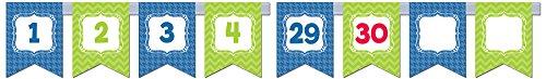 - Creative Teaching Press Chevron Pennants Number Line Mini Bulletin Board Set (6957)