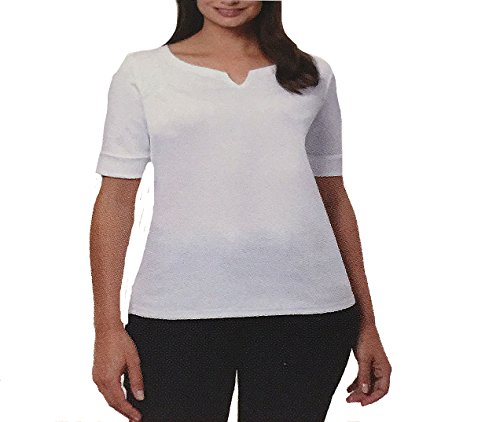 Ellen Tracy Ladies' Elbow Sleeve Top, Bright White, Medium