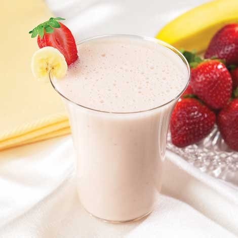 HealthWise Strawberry Banana Smoothie, (7 Packets of 0.93 Oz., Net 6.54 Oz.) (Banana Gum Strawberry)