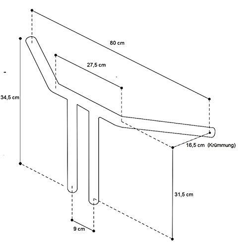 Manubrio Fat T-Bar 14 per Suzuki Intruder VL 125//800 Volusia// 1500 LC nero