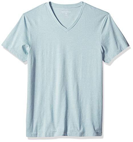 J.Crew Mercantile Men's Slim Heathered V-Neck T-Shirt, Warm Aqua, L