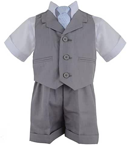 Gino Giovanni Baby Boy Infant Summer Suit Vest Short Set