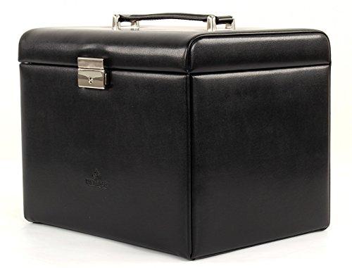 Windrose Merino Schmuckkoffer mit integrierter Schmucktasche 8 schwarz - 5