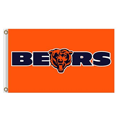 (Five Star Flags New Chicago Bears Flag, Bears Flag, Flag for Indoor or Outdoor Use, 100% Polyester, 3 x 5)
