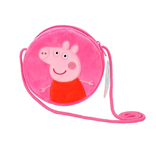 Cute Peppa Pig Coin Purse Mini Crossbody Bag -Wallet Plush Stuffed Toys Change Purse Kids Gift (pink)