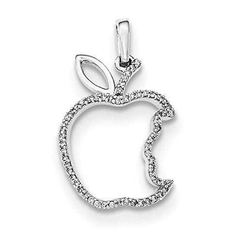 Argent Sterling diamant pendentif pomme-JewelryWeb by Bitten
