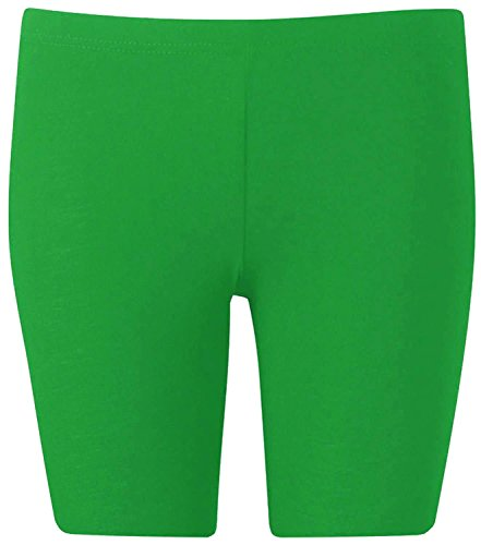 New Womens Plus Size Over Knee Plain Jersey Cycling Shorts ( Jade Green, 1X )