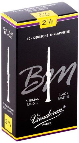 Vandoren CR1825 Black Master 10 Anches pour Clarinette Sib 2,5