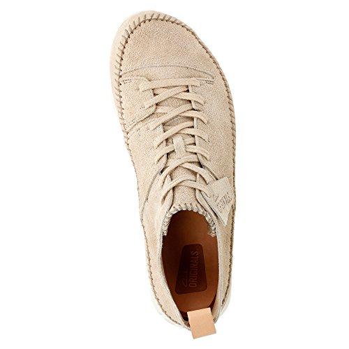 Clarks Heren Suede Trigenic Flex Sneakers Zand Suede