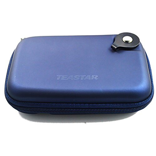 5'' Inch Hard Carrying Travel GPS Case Bag Pouch Protective Shell For 5'' 5.2 Inch Garmin Nuvi 55LM 54LM/54 52LM/52 2597LMT 2577LT 2557LMT 3597LMT TomTom Magellan RoadMate Devices Blue by Teaeshop (Image #5)'