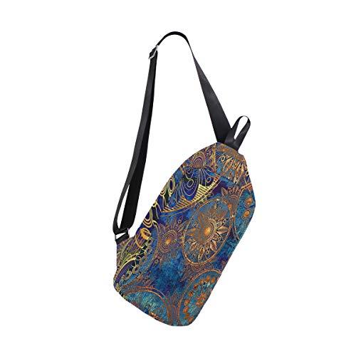 Sling Bag Vintage Wallpaper Womens Chest Shoulder Backpacks Crossbody Multipurpose Bag Pack
