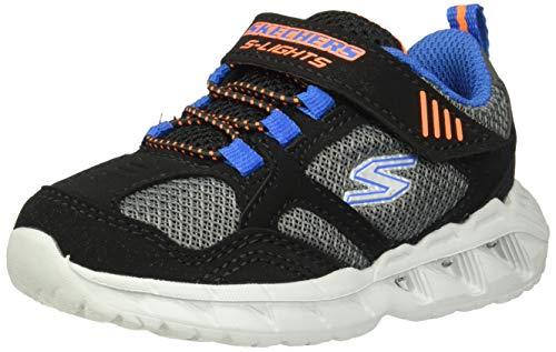 Skechers Kids Boys' Magna-Lights Sneaker, Black/Blue/Orange, 10 Medium US Toddler (Shoes Skechers Light)