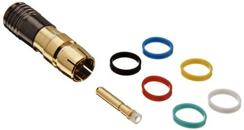 Morris Products 45116 RCA Male Compression Connector with Extra Pin and 6 Color Bands, RG59U Quad Shield (Pack of 10) (2)