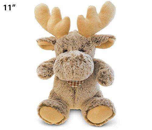 (Puzzled Super-Soft Sitting Moose Plush, 11