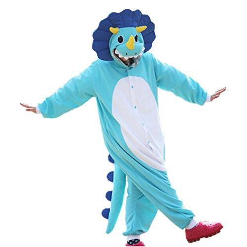 (Lifeye Adult Triceratops Pajamas Animal Cosplay Costume)