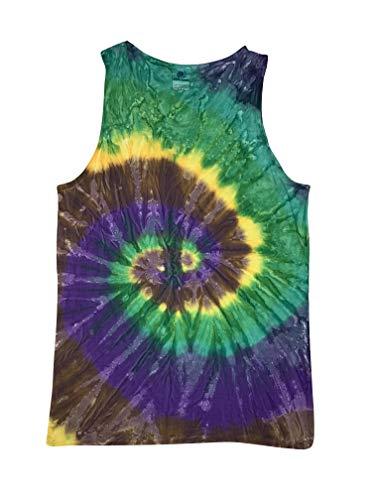 Colortone Tie Dye Tank Top LG Mardi Gras ()