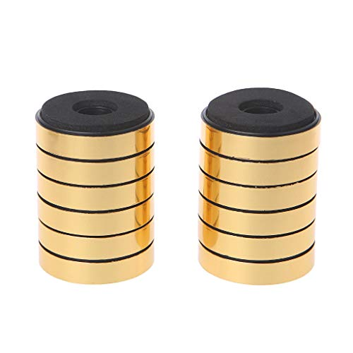 Absorption Damping for Audio Stereo Speakers Amplifier Feet Pad Gold M# ()