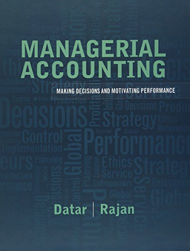 MANAGERIAL ACCOUNTING-TEXT