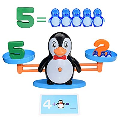BAKAM Penguin Balance Math Counting Toys, Educational Number Toys for Kids, STEM Learning Toys for Boys Girls Age 3+ (Penguin): Toys & Games