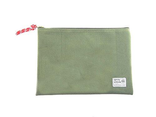 Rough Enough 12.5 X 8.8 Inches Heavy Canvas Fancy Vintage Document Folder Holder (Raw Green)