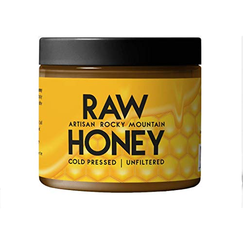 Raw Honey (20 oz.) by Artisan Rocky Mountain, Resealable Tub, Cold Pressed, Unpasteurized, Unfiltered