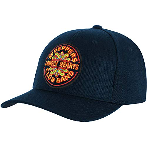 The Beatles Men's Baseball Cap: Sgt Pepper Drum (navy Blue)