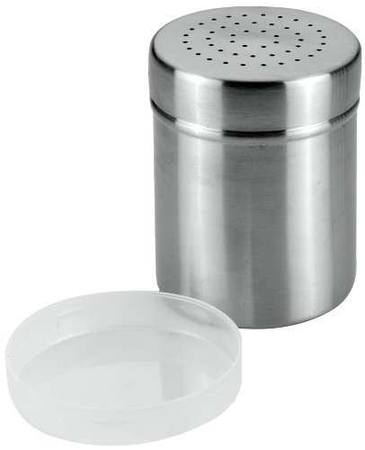 Metaltex 105014 Sugar and Flour Shaker with Cover, Silver