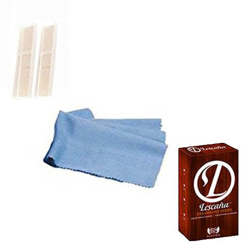 Lescana Paramount Series Tenor Saxophone Reeds 2 PACK (Size 2) with Bonus Tenor Sax Cleaning Cloth RS Berkeley LPR-TS22